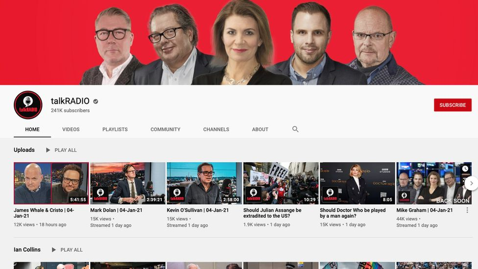 TalkRadio: YouTube revierte la decisión de prohibir el canal